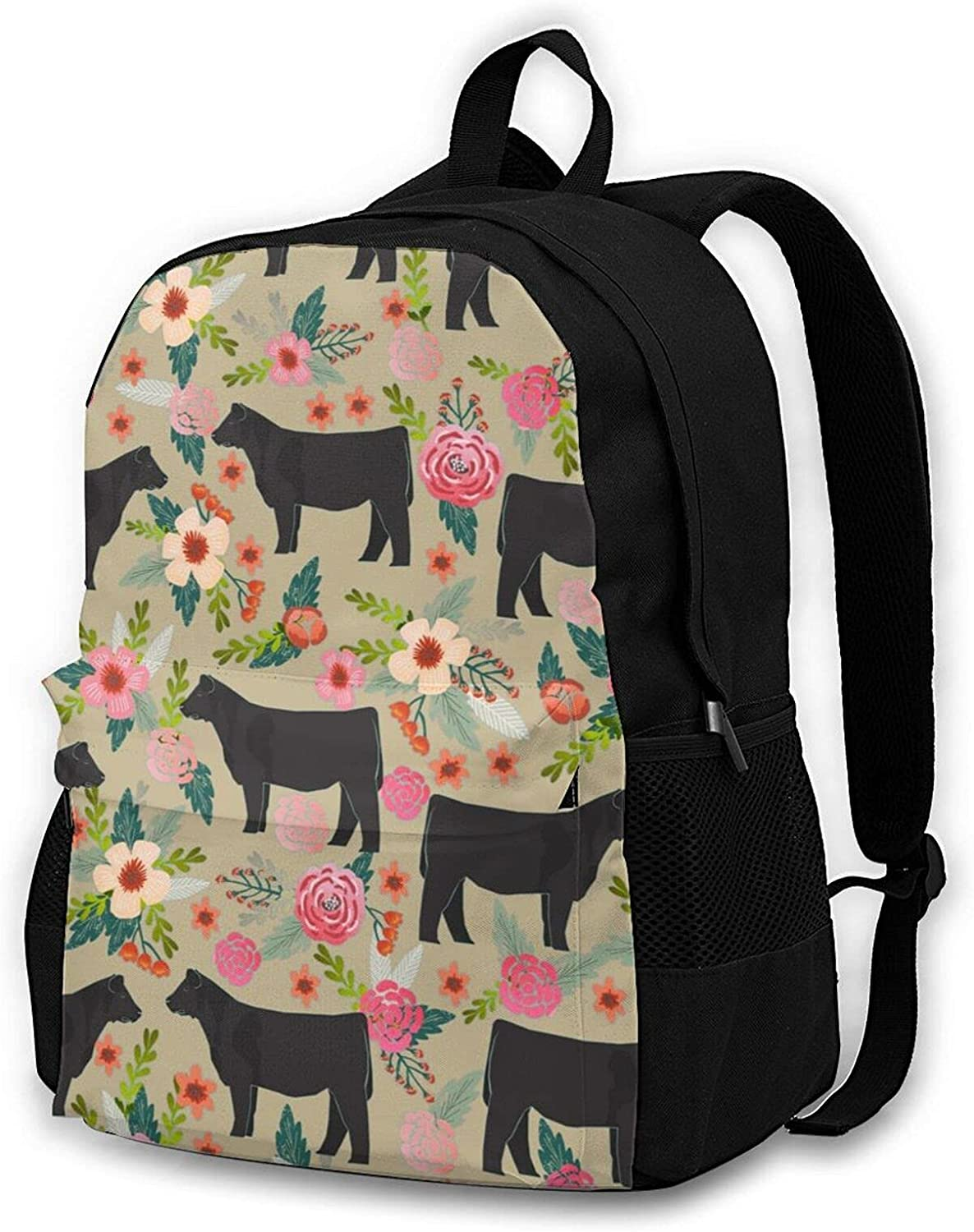 Show Steer 100% quality warranty Cows Farm Chicago Mall Barn Backpack College Design Bookba Florals