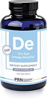 PRN Physician Recommended Nutriceuticals - Dry Eye Omega Supplements (240 Count, De Original Formula, 4 softgels)