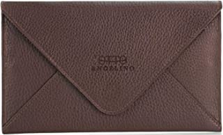 Otto Angelino Genuine Leather Wallet Multiple Slots Money, ID, Cards, Smartphone, RFID Protection - Unisex, dark brown