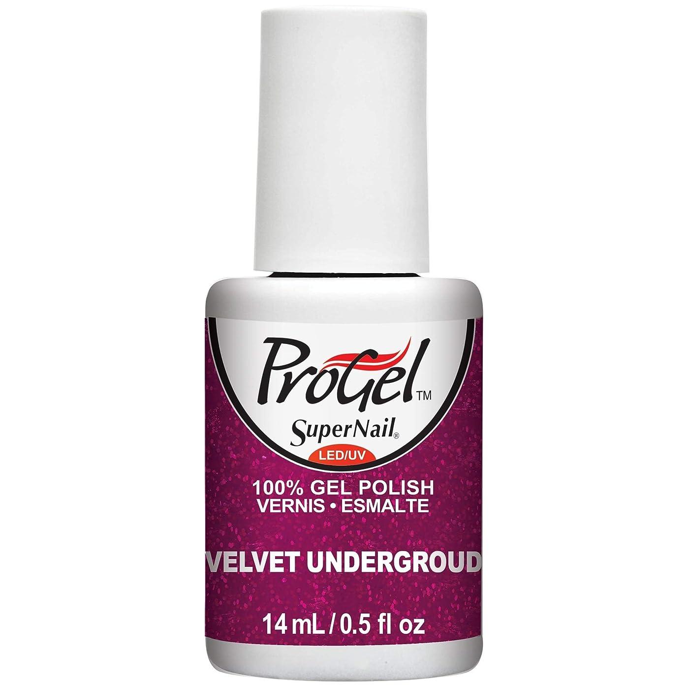 と闘う軽減する要塞SuperNail ProGel Gel Polish - Velvet Underground - 0.5oz / 14ml