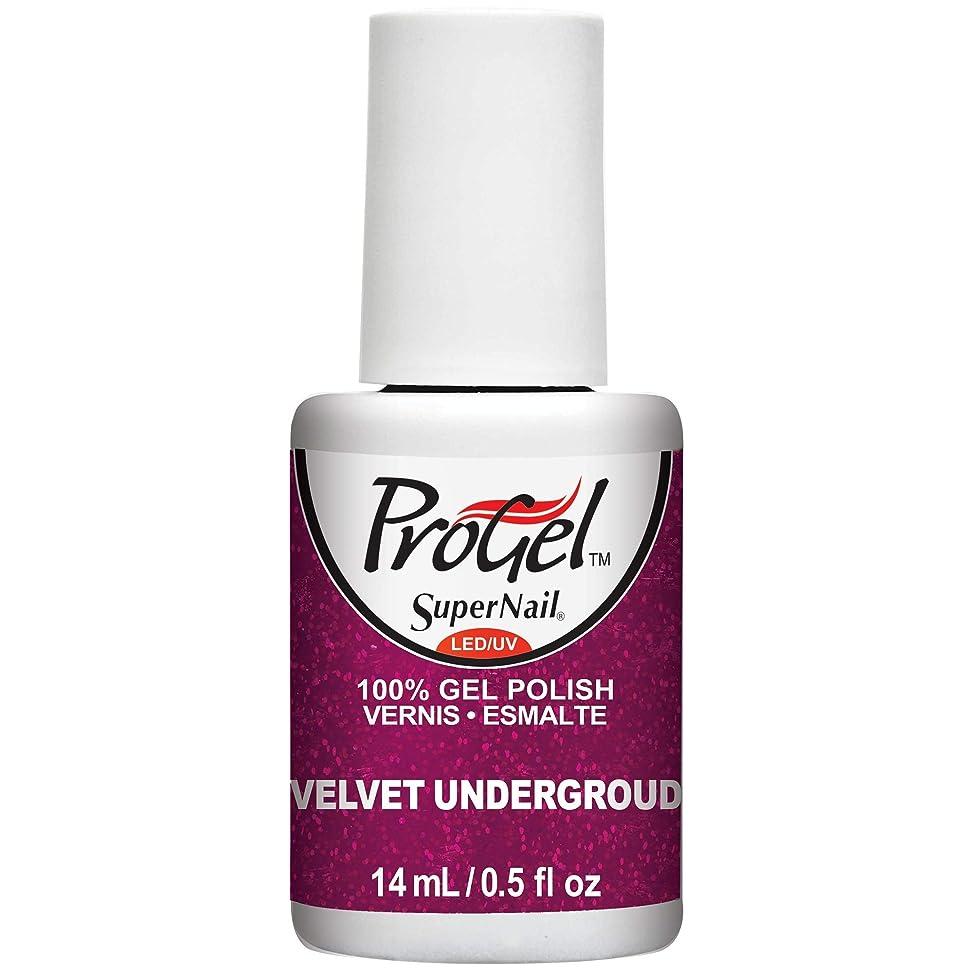 特異性明らかにする従事するSuperNail ProGel Gel Polish - Velvet Underground - 0.5oz / 14ml