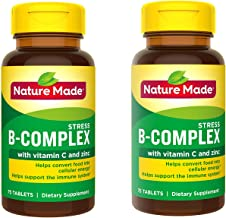 Nature Made Stress B-Complex with Vitamin C and Zinc Tablets, 75 Count (Packaging May Vary) - 2 Pack