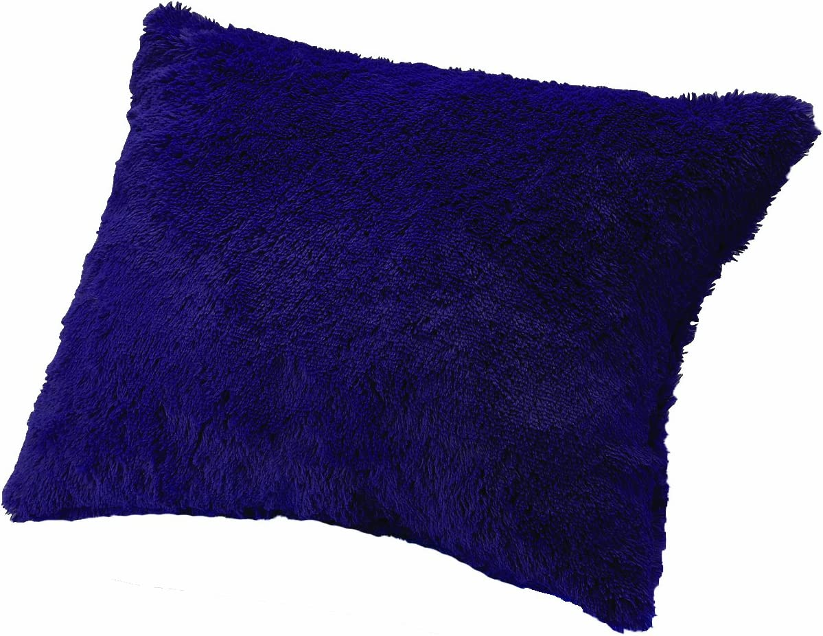 Casual Living Fashionable mart Shaggy Bed Pillow Standard Purple