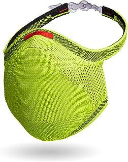 Kit com máscara Knit Fiber Verde Limão P Infantil + 30 filtros + suporte
