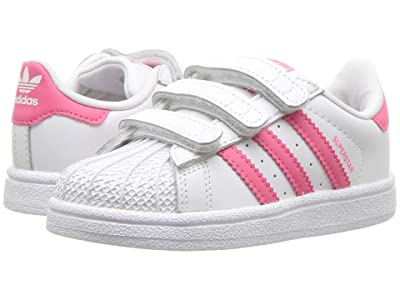 adidas Originals Kids Superstar CF I (Toddler) (White/Real Pink) Girls Shoes