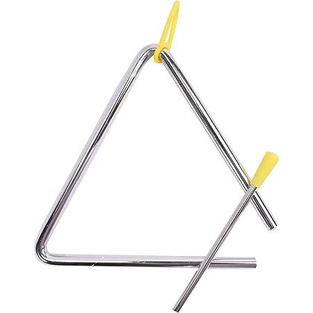 TRIXES Triángulo Musical con Batidor - Acero - Niños de Escuela - Instrumento de Percusión