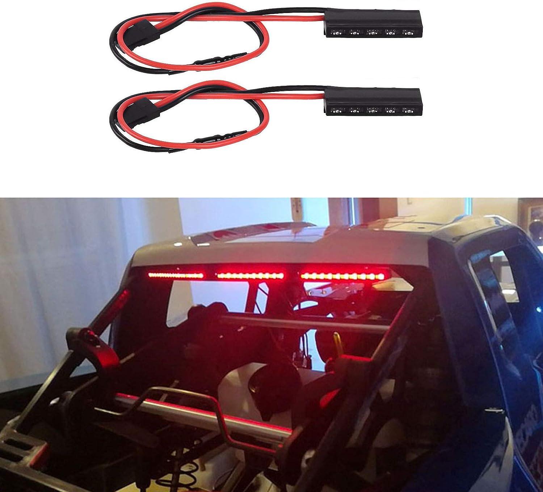 1x 1:10 RC 4 Leds Roof Lamp Light Bright for SCX10 D90 TRX4 Wraith Crawler Parts