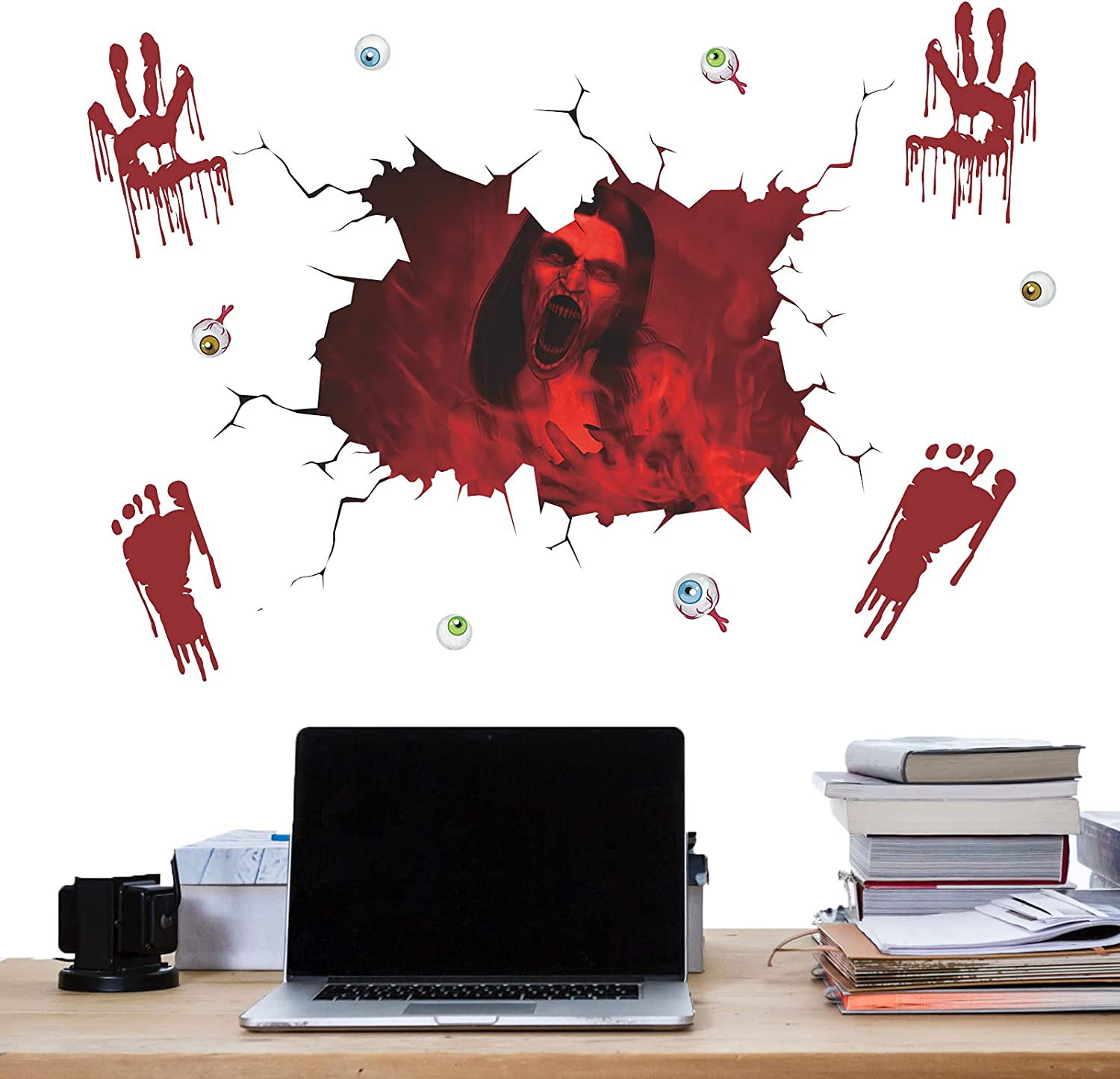 100% quality warranty Atcarmor Halloween Wall Sticker Removable Sale SALE% OFF Decals
