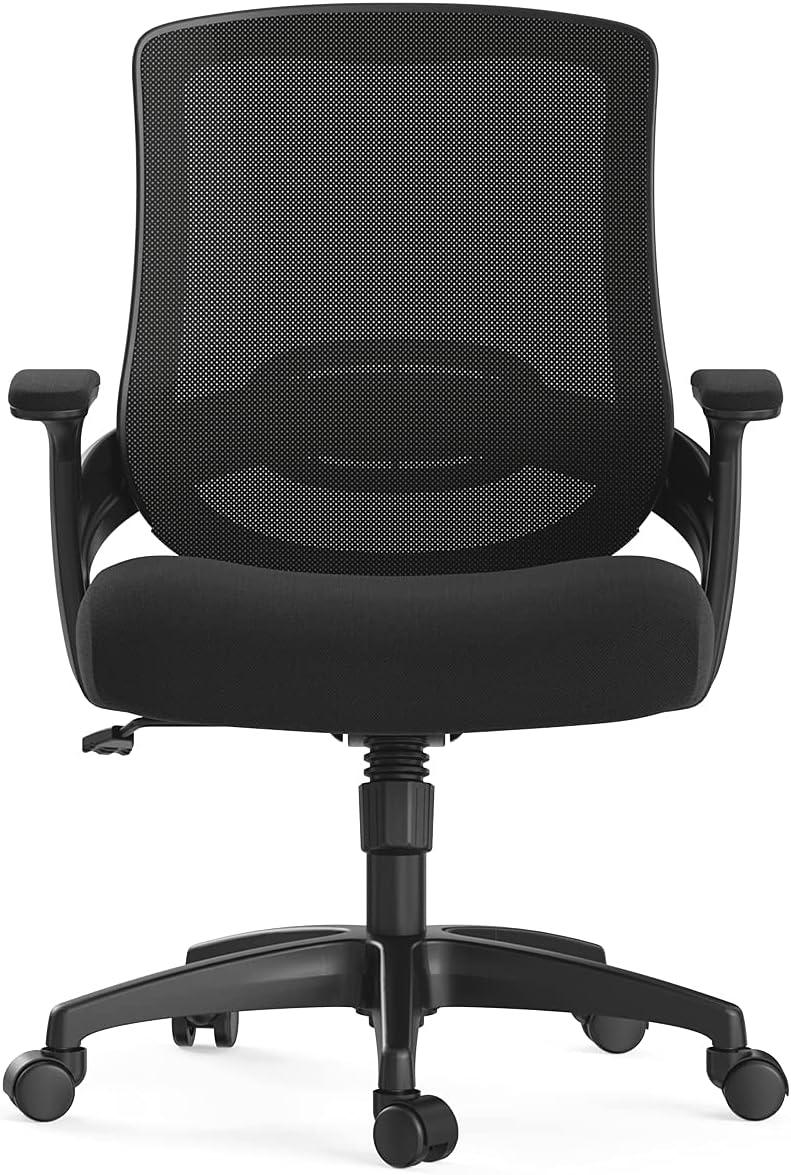 Hbada Bürostuhl Computerstuhl Ergonomischer Drehstuhl für Zuhause Sessel Netzstuhl Hubstuhl, Schwarzer