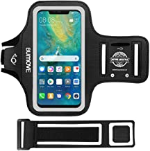 Huawei Mate 30/20/20 Lite Armband, BUMOVE Gym Running Workouts Sports Arm Band for Huawei Mate 30/20/20 Lite, Huawei Honor 8X, Y9 2019 with Key Holder(Black)