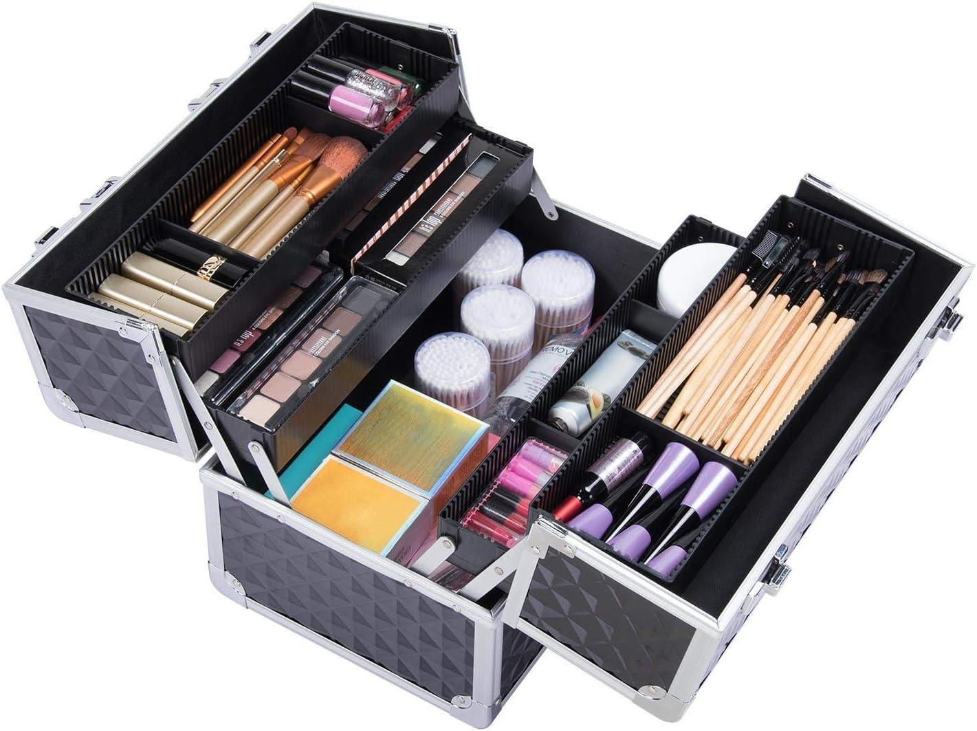 Yaheetech Kosmetikkoffer Friseur Koffer Trolly Alu Beauty Make-up Case Multikoffer Werkzeugkoffer abschlie/ßbar