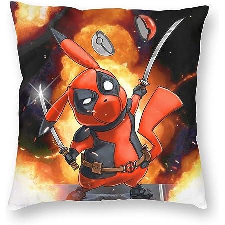 Pika-Bane Pikachu X Bane Mashup Unique Artwork 100 /% Natural Cotton 12 oz. Canvas Organic Pillow Cover