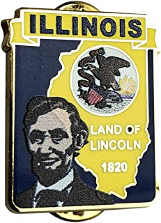 Illinois State Shaped Map Lapel Metal Pin