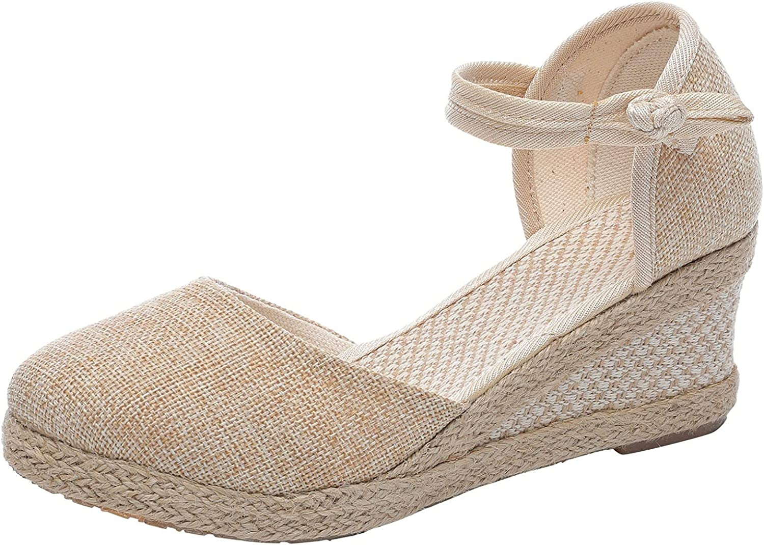 FAMOORE Fashion Women's Casual Shoes Breathable Slip-on Outdoor Leisure Wedges Sandals