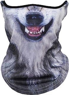 SHAWINGO 3D Print Animal Balaclava Breathable Anti-UV Windproof Face Mask for Motorcycle Cycling Hiking Ski