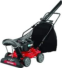 Craftsman Gas Powered 3-in-1 Push Chipper Shredder 163cc 4-Cycle Engine 8:1 Debris Reduction Ratio, 2-Bushel Bag, and 3-Foot Vacuum Hose, Liberty Red