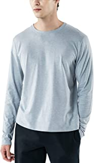 TSLA Men's Long Sleeve Shirts, Dynamic Casual Soft Cotton T-Shirts & 3/4 Sleeve Baseball Shirts, Cool Dry Outdoor Work Shirt