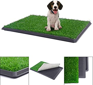 BringerPet Indoor Puppy Dog PET Potty Training Pee PAD MAT Tray Grass House Toilet W/Tray