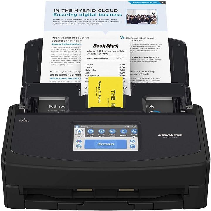 Scanner documenti per ufficio scansnap ix1600 nera B08QDBY4QN