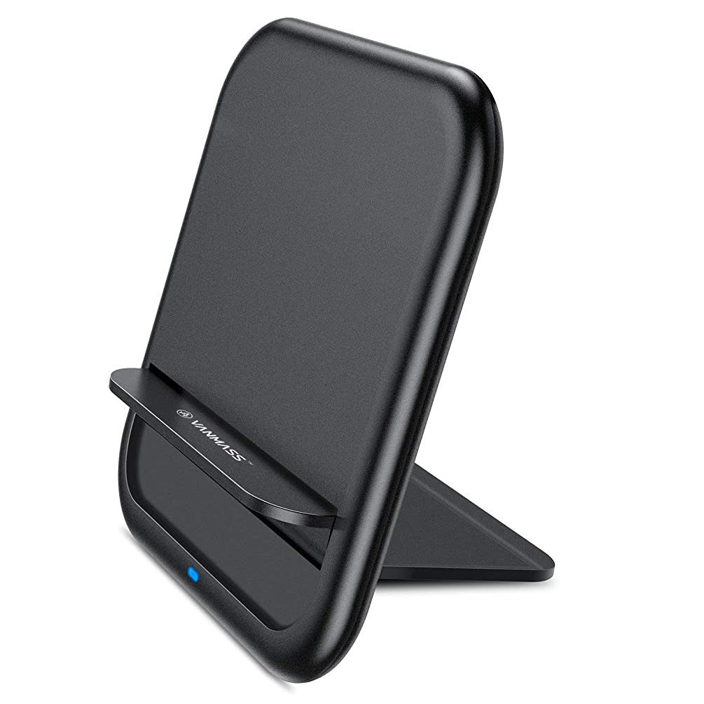 Qi Wireless Charger, VANMASS Fast Ultra-Thin Foldable Wireless Charger, 10W/7.5W Fast Wireless Charging Stand Conpitable with Note 9/S9/S9, Xs MAX/Xs/XR/X/8/8+ and All Qi-Enabled Devices