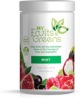 My Fruits and Greens Superfood Powder - Amazing Daily Probiotic Supplement Mix for Smoothie, Athletic Drinks and Dynamic Super Food Juice - Powdered Kale, Vegetables, Antioxidants - 30 Servings