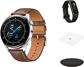 Huawei Smart Watch 3 Galileo-L24E Stainless Steel+Foc Body Fat Scale+Foc Fitness Band 4 Andes B29+Foc Wireless Charger CP60