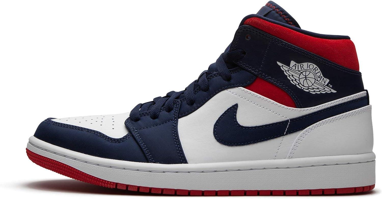 Jordan Men's Shoes Nike Air 1 Retro Mid Se Olympic 852542-104