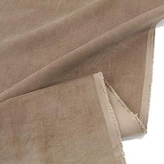TOLKO 1m Mikro Cord Stoff | leichter Baumwoll Cordsamt | Bekleidungsstoff für Hosen Jacken Kleider Hemden | weiche Meterware 140cm breit | uni Baumwollstoffe Nähstoffe günstig kaufen Khaki