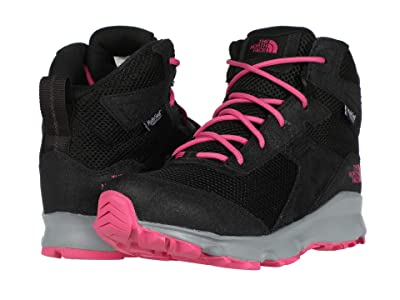 The North Face Kids Hedgehog Hiker II Mid Waterproof (Little Kid/Big Kid) (TNF Black/Mr. Pink) Girls Shoes