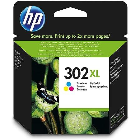 HP 302XL Cartouche d'Encre Trois Couleurs grande capacité Authentique (F6U67AE)