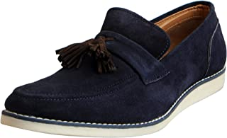 FAUSTO Men's Suede Leather Mocassins and Loafers Casual Shoes