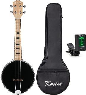 Kmise Banjo Ukulele 4 String Concert Banjos Maple Body Aquila String Elegant Design