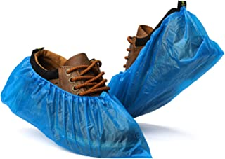Fuxury Shoe Covers Disposable 100 Pack(50 Pairs) Disposable Shoe Boot Covers Waterproof Non Slip...