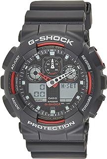 ساعة رجالي كوارتز من كاسيو، بشاشة رقمية انالوج وسوار بلاستيكي GA100-1A4