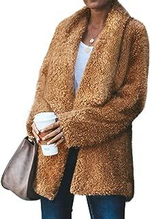 Women's Winter Thick Warm Fleece Coat Outwear with Pockets