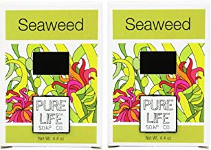 Pure Life Soap Co. Seaweed Soap Bar (Pack of 2) With Olive Oil, Coconut Oil and Organic Kelp Extracts, 4.4 oz Each