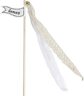 Ginger Ray Konfetti Alternative Vintage Hochzeit Zauberstäbe 10 Pack, Gold oder elfenbeinfarben elfenbeinfarben