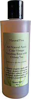 Natural First Organic Apple Cider Vinegar Finishing Rinse w/Oolong Tea to Add Shine to Dull Hair
