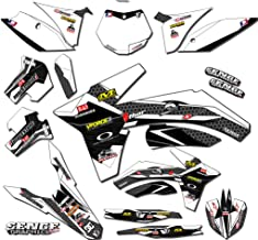 Senge Graphics kit compatible with Kawasaki 2002-2009 KLX 110, Podium White Graphics Kit