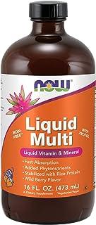 NOW Supplements, Liquid Multi, Fast Absorption, Liquid Vitamin & Mineral, Wild Berry Flavor, 16-Ounce