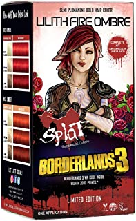 Splat   Borderlands 3   Lilith Fire Ombre Hair Color with Bleach   Complete Hair Dye Kit   Semi-Permanent   30 Wash   Vegan and Cruelty-Free
