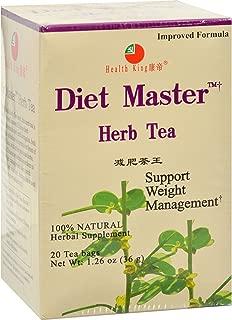 HEALTH KING MEDICINAL TEAS TEA,DIET MASTER, 20 BAG