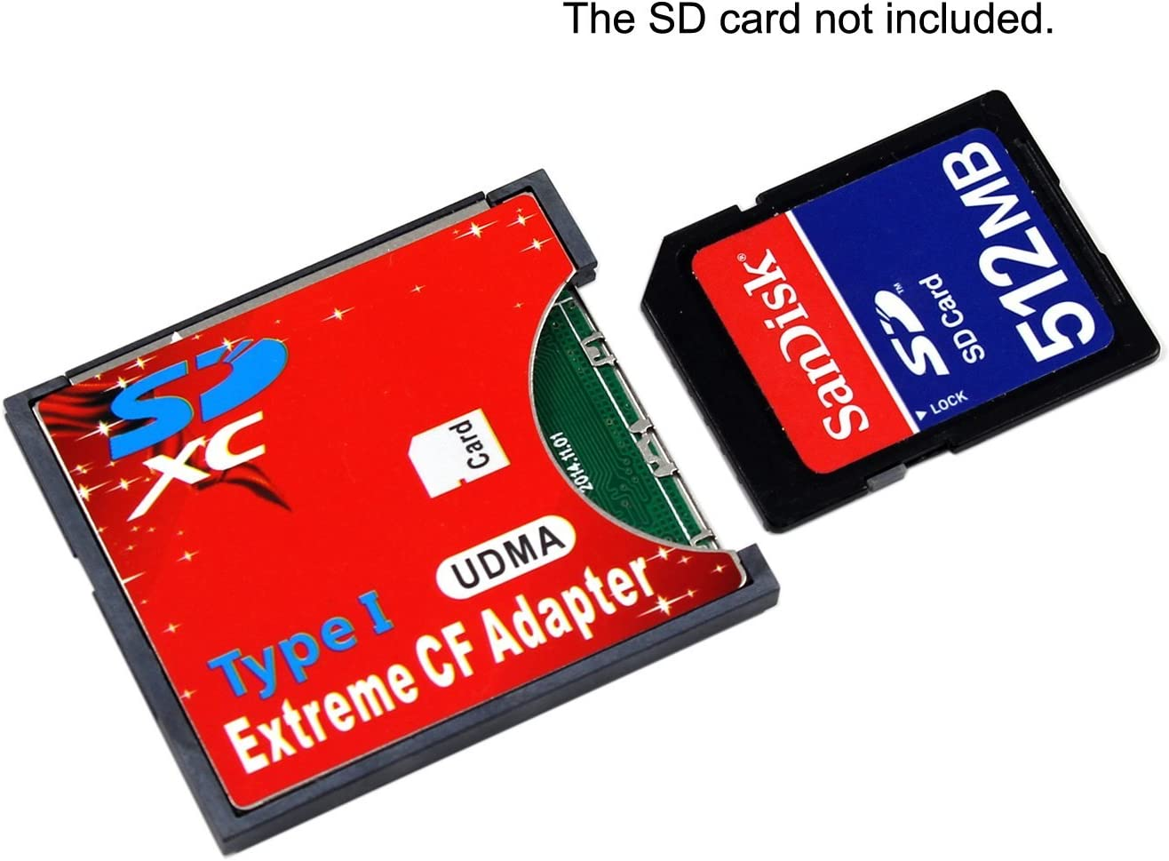 CY SD SDHC SDXC to CF Compact Flash Memory Card Adapter Reader Type I 16/32/64/128GB CF to SD Card Converter