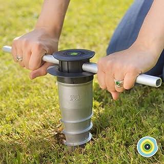 GARD & ROCK - BASE D'ANCRAGE en aluminium, affleurant le sol - Multi-terrains à visser ou à sceller - Quick Fixation Syste...