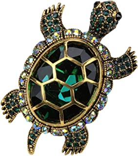 Women's Big Turtle Pin Brooch + Pendant 2 in 1 - Scarf Holders - Lead & Nickle Free - (2-1/4 x 1-1/2) Inches - Halloween Costume Jewelry Accessories
