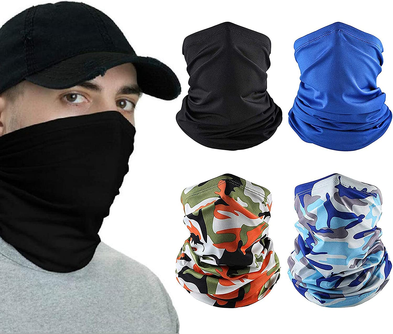 Neck Gaiter Face Scarf Women Men, Face Cover Headwear Balaclavas Bandana