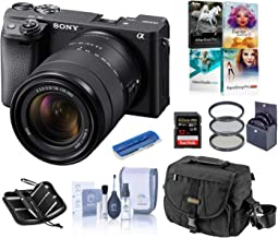 $1298 » Sony Alpha a6400 Mirrorless Digital Camera with 18-135mm f/3.5-5.6 OSS Lens, Bundle with Camera Bag + Filter Kit + 32GB SD Card + SD Card Case + Corel PC Software Kit + Cleaning Kit + Card Reader