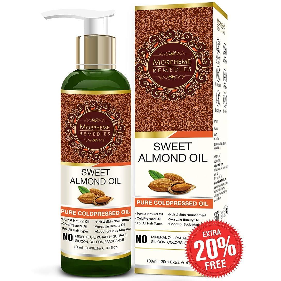 コショウパスポートぴったりMorpheme Remedies Remedies Pure Sweet Almond Coldpressed Oil For Hair, Skin (No Mineral Oil, Sulphate) 120ml