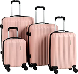 4 Pieces ABS Luggage Sets Hardside Spinner Lightweight Durable Spinner Suitcase 16