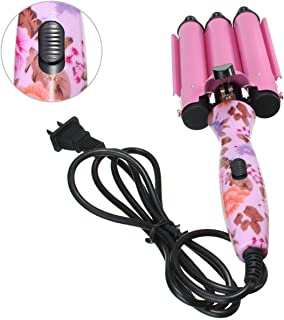 Pink 3 Barrels Ceramic Big Hair Wave Waver Curler Curling